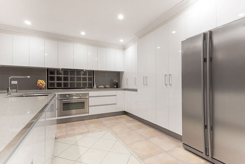 Contemporary High Gloss White Kitchen Amazing Cabinetry Mission Viejo