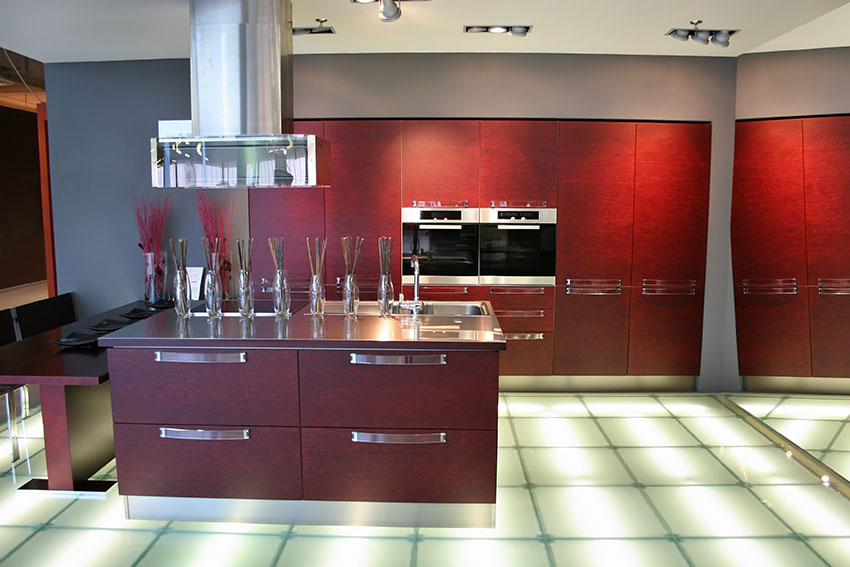 Contemporary Kitchen Maroon Amazing Cabinetry Mission Viejo