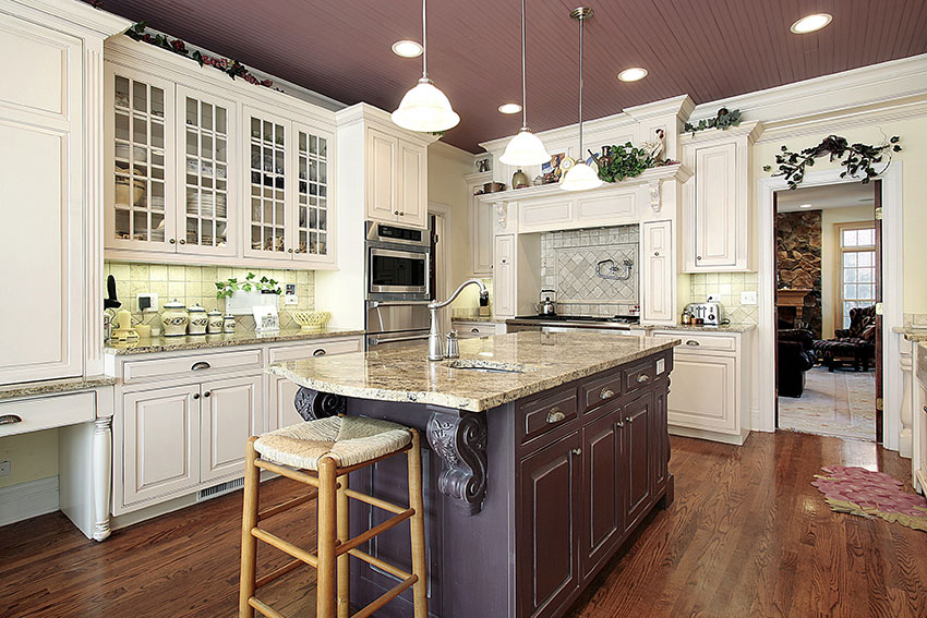 Luxury-Kitchen---White-Melody-Cabinets-with-Van-Dyke-Brown ...