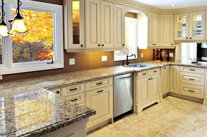 Antique Almond cabinets with Granite Counter Top Amazing Cabinetry Mission Viejo