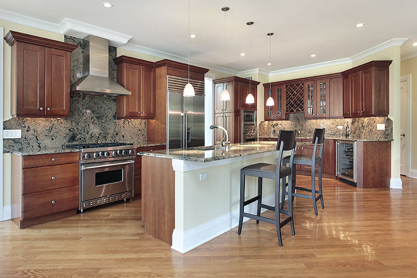 Traditional-Kitchen---Burnt-Umber-Cabinets-with-Granite-Counter-Top Umber Kitchen Cabinets on java glaze cabinets, wood stain for maple umber cabinets, java maple cabinets, beautiful kithen umber stained cabinets,